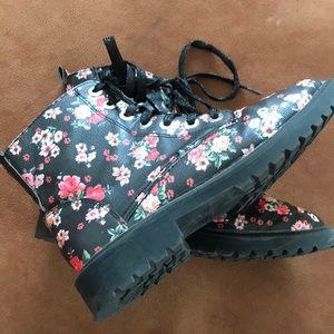 Zara Girls Rose Combat boots
